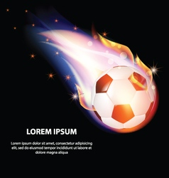 Isolated Fire Soccer Ball or Football Symbol Stars vector image
