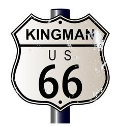 Kingman route 66 sign vector