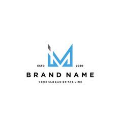 Letter im logo design vector