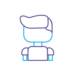 line man character to video game technology play vector image