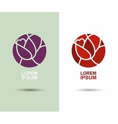 logo Flower abstract icon design template Flourish vector image vector image