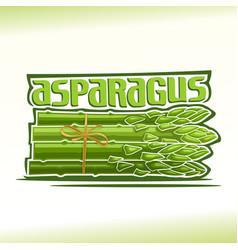 Logo for asparagus vector