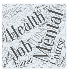 Mental health jobs Word Cloud Concept vector