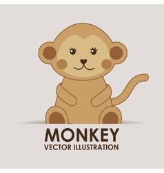 Monkey cute vector