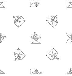 Phishing personal mail pattern seamless vector