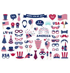photobooth usa patriotic props celebration vector image