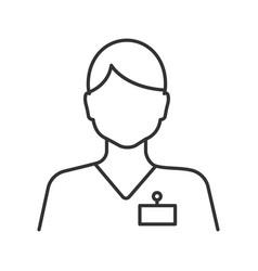 Receptionist linear icon vector