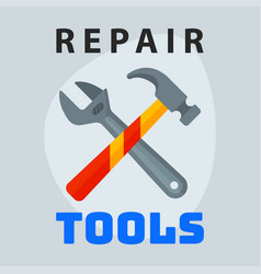 repair tools hammer wrench icon creative graphic vector image