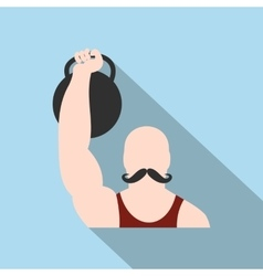 Retro circus athlete flat icon vector