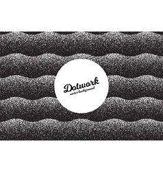 Retro Dotwork Texture Background vector