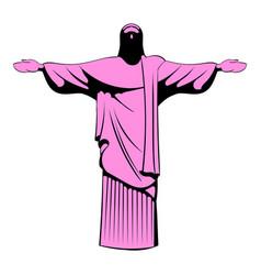 rio de janeiro christ icon cartoon vector image