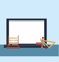 school and education supplies vector image