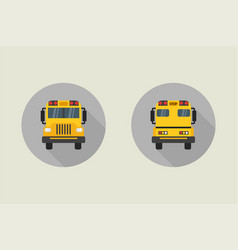 school bus icon in flat style vector image