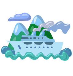 sea travel cruise vector image