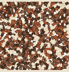 seamless background of chocolate slices vector image