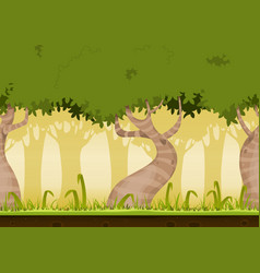 Seamless forest landscape vector