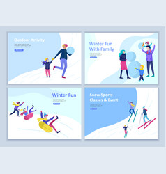 set of landing page templates people dressed in vector image