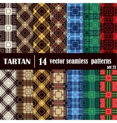 Set tartan seamless pattern in different colors vector