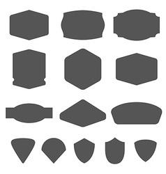 set vintage frames for emblems labels insigni vector image