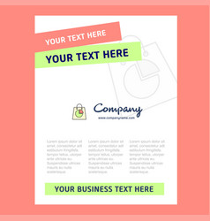 shopping bag title page design for company vector image