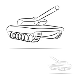 Stylized tank vector
