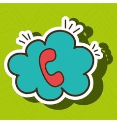 Telephone call cloud speech vector