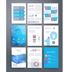 Templates flyer brochure magazine cover vector image vector image