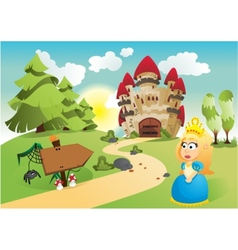 The princess and her kingdom vector image