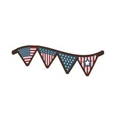 united states of america garland vector image