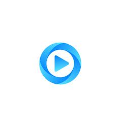 Video letter o logo icon design vector
