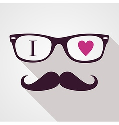 Vintage hipsters icons face vector image