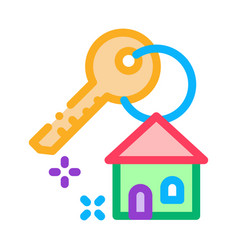 winning house icon outline vector image