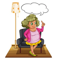 Woman in living room vector
