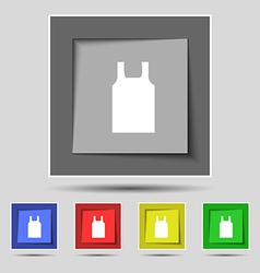 Working vest icon sign on original five colored vector