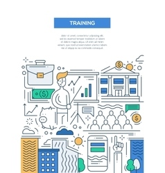 Business Training - line design brochure poster vector image