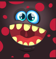 cartoon funny monster black face vector image
