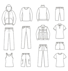 Casual clothes set vector image