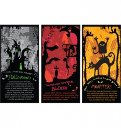 set of vertical halloween banners vector image vector image