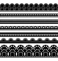 seven black ribbons vector image vector image