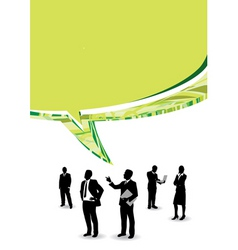 speech business people vector image vector image