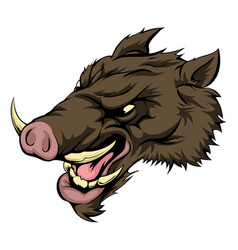boar mascot character vector image