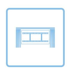 Cinema theater auditorium icon vector image vector image