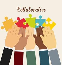Coaborative people design vector