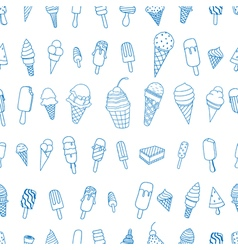 ice creams seamless pattern vector image vector image