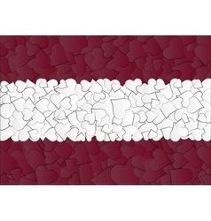 Latvia Austria Flag maden with doodle hearts a vector image