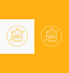 modern minimalistic logo of food and drawn vector image vector image