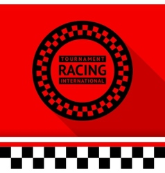 Racing stamp-03 vector image vector image