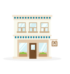 store house flat design vector image