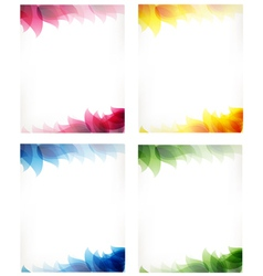 cards with leaf pattern vector image vector image