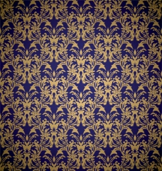 floral royal wallpaper vector image
